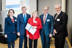Karin Knufmann-Happe, Staatssekretär Lutz Stroppe, Helga Kühn-Mengel MdB, Prof. Dr. Michael Roden, Dr. Gauden Galea